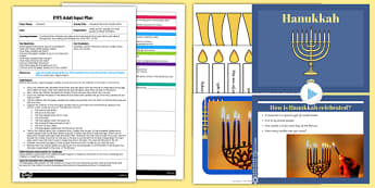 Hanukkah Menorah Candle Game EYFS Adult Input Plan and Resource Pack