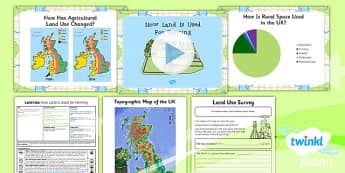 Geography: Land Use: How Land Is Used for Farming Year 3 Lesson Pack 6