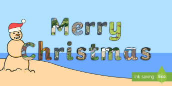 Merry Christmas Kiwi Style Display Lettering -  Māori, Kiwi, NZ, Animals, Christmas Greetings,Aotearoa
