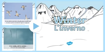 Winter Information PowerPoint English/Italian - Winter Information PowerPoint - winter, powerpoint, information, wnter, wintre, pp, ppt