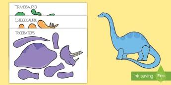 Actividad de encuadernadores: Dinosaurios -Spanish - Dinosaurios, pre-historia, dinos, tyranosaurio, estegosaurio, triceratops, proyectos, aprendizaje ba - Dinosaurios, pre-historia, dinos, tyranosaurio, estegosaurio, triceratops, proyectos, aprendiz