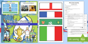 The Rugby Six Nations Whole School Assembly Script and Powerpoint Pack -  KS2 Rugby Six Nations  (4th February 2017), 6 nations, six nations, RBS, rugby, rugby union, match,
