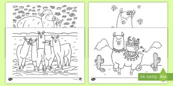 t par 299 llama colouring pages english ver 1