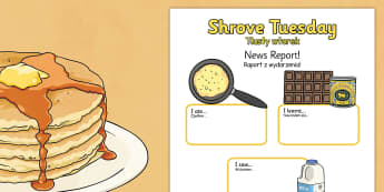 Shrove Tuesday Event Writing Report Polish Translation - Polish, shrove Tuesday, writing