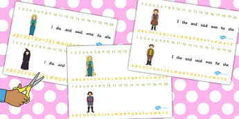 Rapunzel Combined Number and Alphabet Strips - alphabet, number