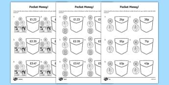 Pocket Money Activity Sheet Pack, worksheet
