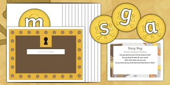 Pirate Treasure Posting Busy Bag Prompt Card and Resource Pack