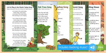Forest and Woodland Songs and Rhymes Resource Pack - Singing, song time, woods, trees, leaves, Hedgehog, forest school