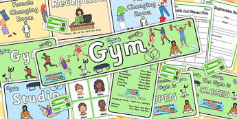 Gym Role Play Pack - roleplay, health, fitness, props, sports, pe