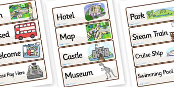 Tourist Information Role Play Labels - tourist information, role play, tourist role play, labels, tourist labels, role play labels, information labels
