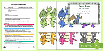 EYFS Free the Dragons Finger Gym Plan and Resource Pack - funky fingers, Zog, padlock, key, knights, castles, fantasy