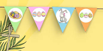Easter Fair Themed Bunting - easter fair, easter fayre, fair, fayre, easter, bunting