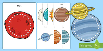 Space Lacing Cards - Lacing, Lacing Cards, lacing activity, space, outer space, solar system, planets, space lacing cards