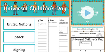 KS2 Universal Children's Day Resource Pack - 20th November, display, children's rights, united nations, education,