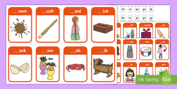 Phase 4 Consonant Blends br, cr, dr, fr, gr, pr, tr Peg Matching Game - Letters And Sounds, Blend, Decode, Phonics, Blends