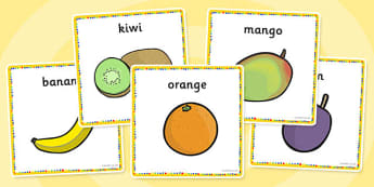 Fruit Salad Word Cards - fruit salad, fruits, cards, activity, salad