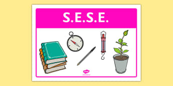 SESE Classroom Area Sign - gaeilge, roi, irish, area, sign, classroom, display, sese