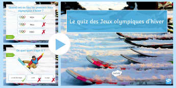 Winter Olympics Quiz PowerPoint French - Olympics, Olympic rings,Games, Olympic games, ice skater. olypmpic speed skating, Reading, jeux, oly