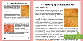 Traditional Aboriginal Art Fact Sheet  - Aboriginal art, indigenous art, aboriginal history, indigenous history, australian history,Australia - Aboriginal art, indigenous art, aboriginal history, indigenous history, australian history,Australia