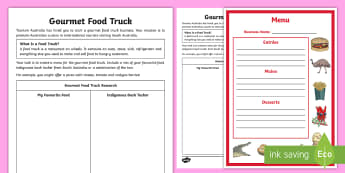 Australian States and Territories - South Australia Gourmet Food Truck Challenge Activity - Year 3, ACHASSK066, geography, Australian curriculum, Northern Territory, lesson, research, signific