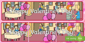 Happy Valentine's Day Banner - Valentine's Day,  Feb 14th, love, cupid, hearts, valentine, 14th Feb
