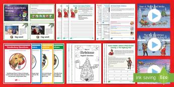 Year 6 Christmas English Bumper Resource Pack - xmas, father christmas, santa, christmas literacy, y6, time fillers,  Xmas, Father Christmas, Santa,
