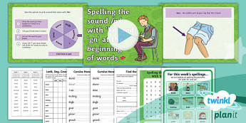 PlanIt Y2 Term 1A W1: 'kn' 'gn' Spelling Pack