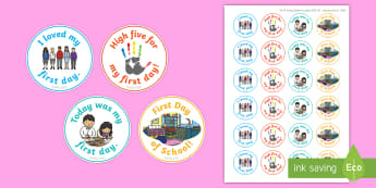 First Day of School Stickers - EYLF, Australia, Rewards, Behaviour Management, Early Childhood, Early Years, First Day, beginning o