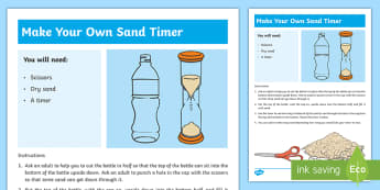 Make a Sand Timer Step-by-Step Instructions - measures, sand timer, instructions, step by step, time,Irish
