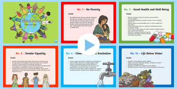Global Goals What Are They? PowerPoint - Rights Respecting School, UNICEF, Rights of a child, global goals, UNCRC, United Nations, ,Scottish