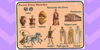 Ancient Greece Word Mat - ancient greece, word mat, visual aid