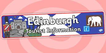 Edinburgh Tourist Information Role Play Banner-edinburgh, tourist information, role play, banner, role play banner, edinburgh role play