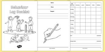 Behaviour Log Booklet - behaviour, good behaviour, reward, timetable, good behaviour, behaviour chart,
