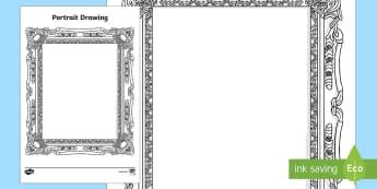 Myself Portrait Drawing Worksheet / Activity Sheet