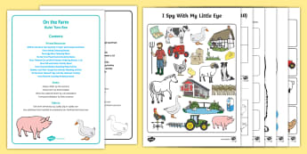 On the Farm Quiet Time Box - On the Farm, table top activities, animals, farming,