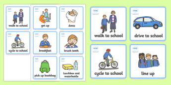 Visual Timetable  (Getting Ready For School - Boys) - getting ready for school, Visual Timetable, SEN, Daily Timetable, School Day, Daily Activities, Daily Routine KS1