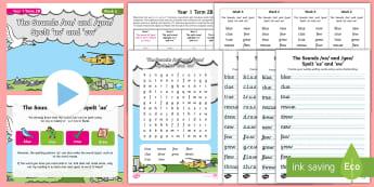 Year 1 Term 2B Week 6 Spelling Pack - Spelling Lists, Word Lists, Spring Term, List Pack, SPaG, spelling homework, spelling test