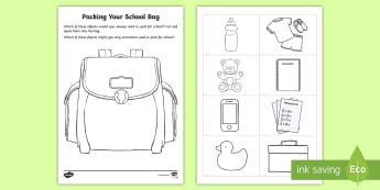Hometime Reminder Cards -  flashcards, reminding, what do you need, bring to school, book bag, lunch box, PE bag,