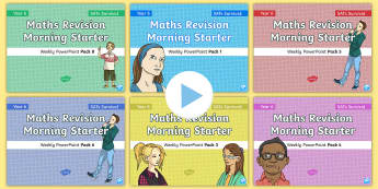 SATs Survival: Year 6 Maths Revision Morning Starter Weekly PowerPoint Bumper Pack - Sats boosters, booster, sats resource pack, Sats Revision, Fluency, Reasoning, Problem Solving, Mast