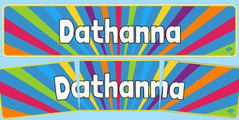 Irish Colours Banner - display, header, board, art, paint, design, bright, early years, ks1, ks2, Gaeilge