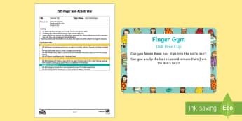 EYFS Doll Hair Clip Finger Gym Plan and Prompt Card Pack - Toys, funky finger, hair, salon, hairdressers, clip, grip, finger gym, fine motor skills