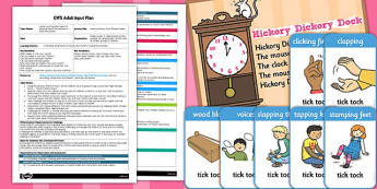 Hickory Dickory Dock Rhythm Game EYFS Adult Input Plan and Resource Pack
