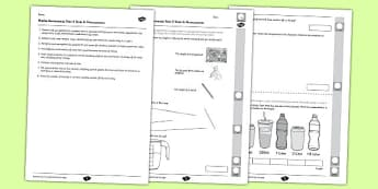 Year 2 Maths Assessment Measurement Term 2  - year 2, maths, assessment, measurement, term 2