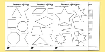 Perimeter of Polygons Worksheets - perimeter, polygons, worksheets