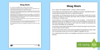 Bewuste Ek: Maag Maats Aktiwiteit  - stres, spanning, ontspan, ontspanning, asemhaling, lag