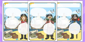 Pirate Themed Target Posters Speech Bubbles - Pirate Themed, Target Poster, Speech Bubbles, Pirate Themed Target Poster, Target Posters Speech Bubbles