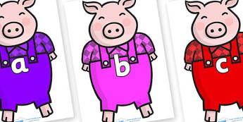 Phase 2 Phonemes on Pigs - Phonemes, phoneme, Phase 2, Phase two, Foundation, Literacy, Letters and Sounds, DfES, display