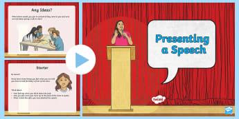 Public Speaking Skills PowerPoint - Oral presentation, speech, listening and speaking, oral literacy, English,Australia