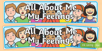 All About Me: My Feelings Display Banner