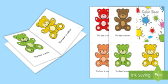Colors Emergent Reader - Colors, color, color bear, emergent reader, colors emergent reader, pre-k literacy, kindergarten lit